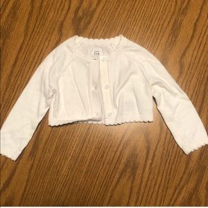 White Baby Gap Sweater